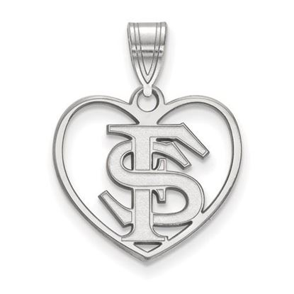 Picture of Florida State University Seminoles Sterling Silver Heart Pendant