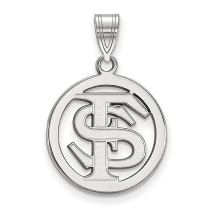 Picture of Florida State University Seminoles Sterling Silver Small Circle Pendant