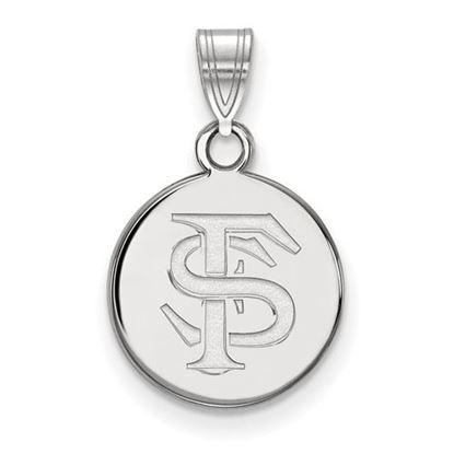 Picture of Florida State University Seminoles Sterling Silver Small Disc Pendant