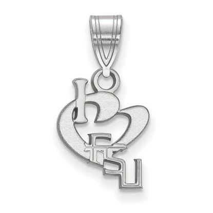 Picture of Florida State University Seminoles Sterling Silver Small I Love Logo Pendant