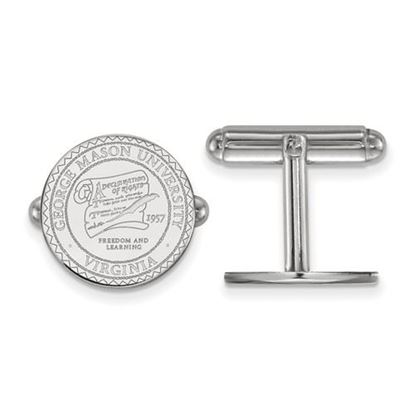 Picture of George Mason University Patriots Sterling Silver Crest Cuff Links
