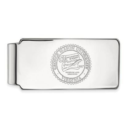 Picture of George Mason University Patriots Sterling Silver Crest Money Clip