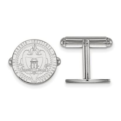 Picture of Georgia Tech Yellow Jackets Sterling Silver Crest Cuff Links