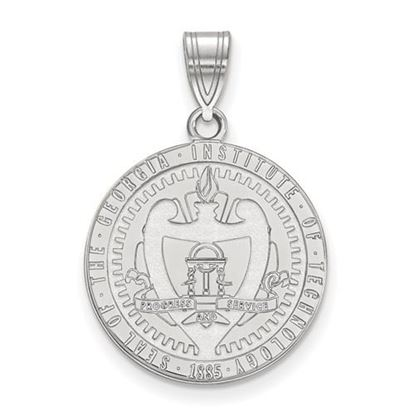 Picture of Georgia Tech Yellow Jackets Sterling Silver Large Crest Pendant