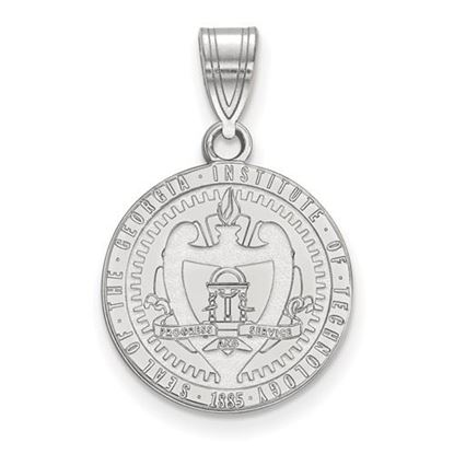 Picture of Georgia Tech Yellow Jackets Sterling Silver Med Crest Pendant