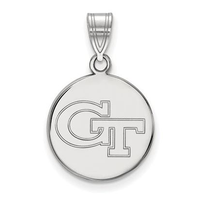 Picture of Georgia Tech Yellow Jackets Sterling Silver Medium Disc Pendant