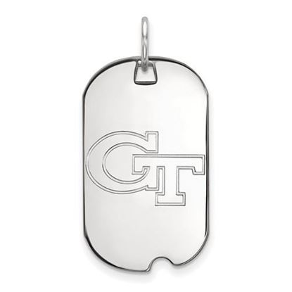 Picture of Georgia Tech Yellow Jackets Sterling Silver Small Dog Tag