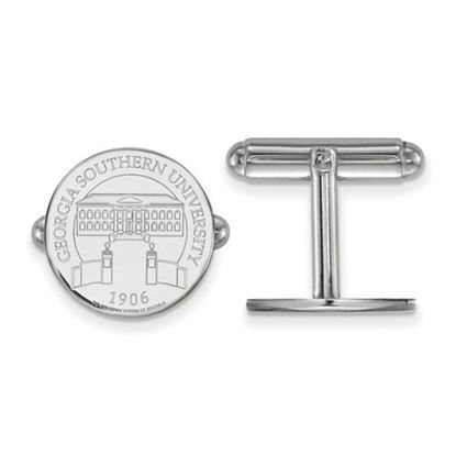 Picture of Georgia Southern University Eagles Sterling Silver Crest Disc Cuff Links