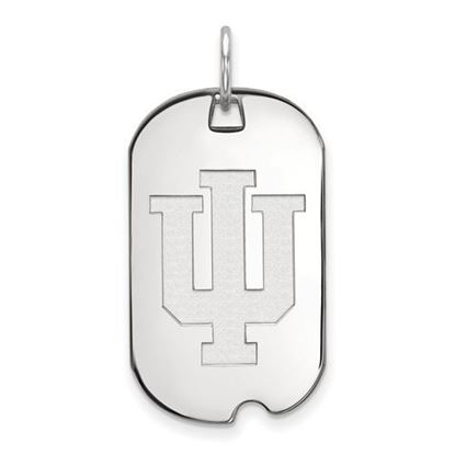 Picture of Indiana University Hoosiers Sterling Silver Small Dog Tag