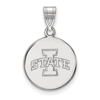 Picture of Iowa State University Cyclones Sterling Silver Medium Disc Pendant