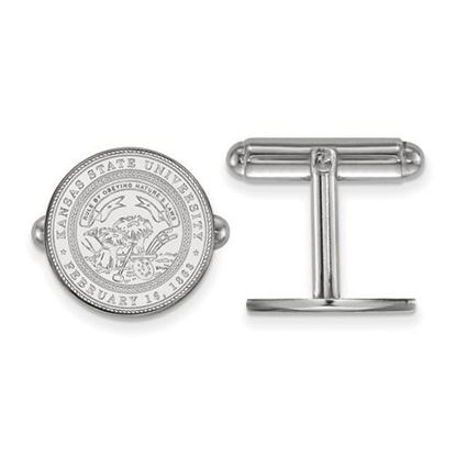 Picture of Kansas State University Wildcats Sterling Silver Crest Cuff Links