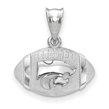 Picture of Kansas State University Sterling Silver Football Pendant