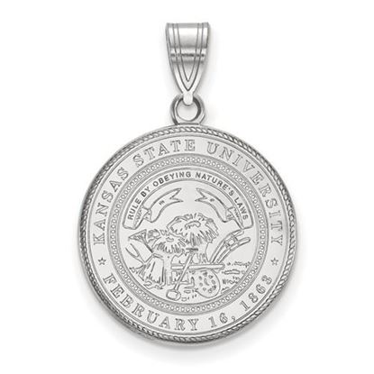 Picture of Kansas State University Wildcats Sterling Silver Large Crest Pendant