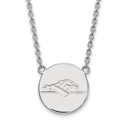 Picture of Longwood University Lancers Sterling Silver Large Disc Necklace