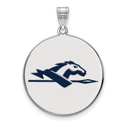 Picture of Longwood University Lancers Sterling Silver Extra Large Enameled Disc Pendant