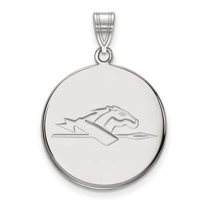Picture of Longwood University Lancers Sterling Silver Large Disc Pendant