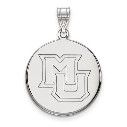 Picture of Marquette University Golden Eagles Sterling Silver Large Disc Pendant
