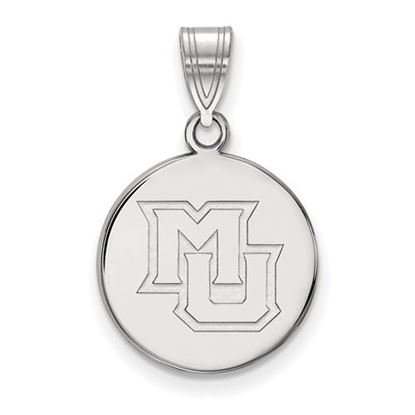 Picture of Marquette University Golden Eagles Sterling Silver Medium Disc Pendant