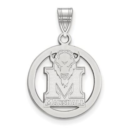 Picture of Marshall University Thundering Herd Sterling Silver Small Circle Pendant