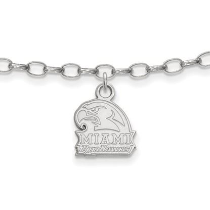 Picture of Miami University Redhawks Sterling Silver Anklet