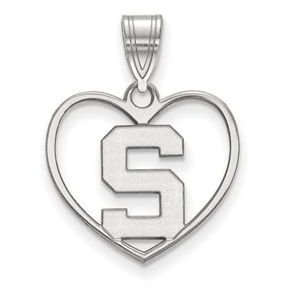 Picture of Michigan State University Spartans Sterling Silver Heart Pendant