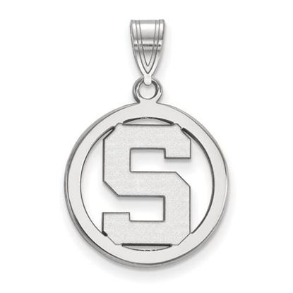 Picture of Michigan State University Spartans Sterling Silver Small Circle Pendant