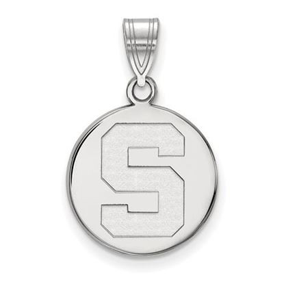 Picture of Michigan State University Spartans Sterling Silver Medium Disc Pendant