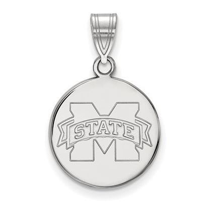 Picture of Mississippi State University Bulldogs Sterling Silver Medium Disc Pendant