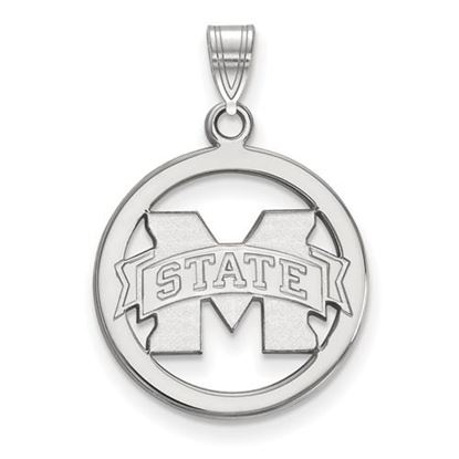 Picture of Mississippi State University Bulldogs Sterling Silver Small Circle Pendant
