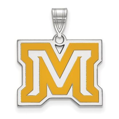 Picture of Montana State University Bobcats Sterling Silver Medium Enameled Pendant