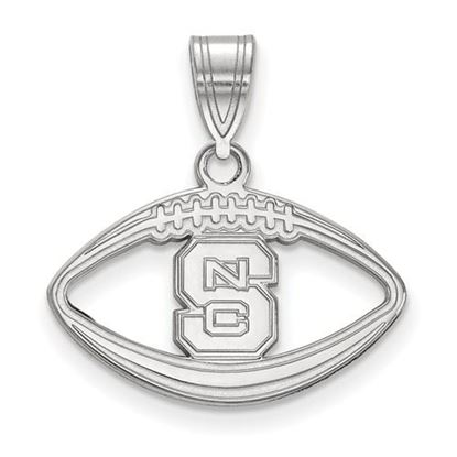 Picture of North Carolina State University Woldpack Sterling Silver Football Pendant
