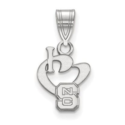 Picture of North Carolina State University Woldpack Sterling Silver Small I Love Logo Pendant