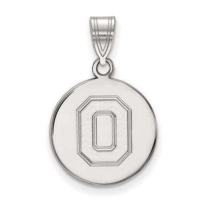 Picture of Ohio State University Buckeyes Sterling Silver Medium Disc Pendant