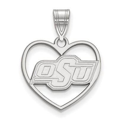Picture of Oklahoma State University Cowboys Sterling Silver Heart Pendant
