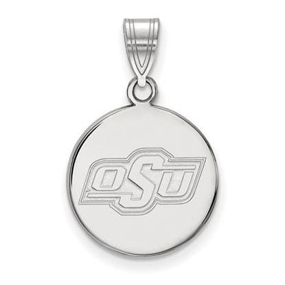 Picture of Oklahoma State University Cowboys Sterling Silver Medium Disc Pendant