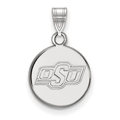 Picture of Oklahoma State University Cowboys Sterling Silver Small Disc Pendant