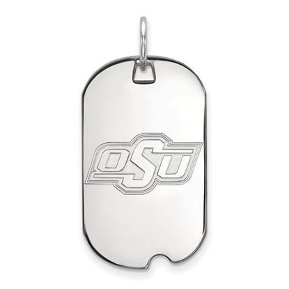 Picture of Oklahoma State University Cowboys Sterling Silver Small Dog Tag
