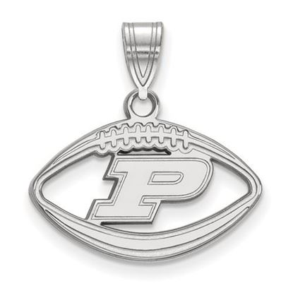 Picture of Purdue University Boilermakers Sterling Silver Football Pendant