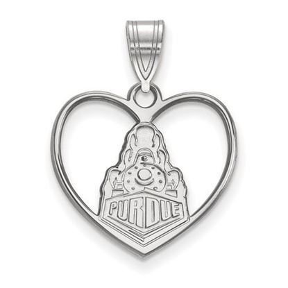 Picture of Purdue University Boilermakers Sterling Silver Heart Pendant