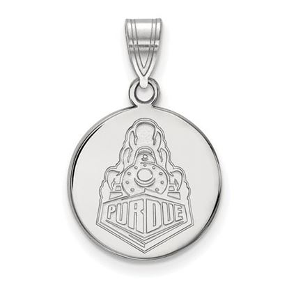 Picture of Purdue University Boilermakers Sterling Silver Medium Disc Pendant