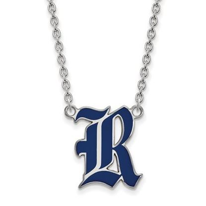 Picture of Rice University Owls Sterling Silver Large Enameled Necklace