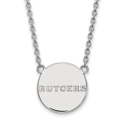Picture of Rutgers University Scarlet Knights Sterling Silver Large Disc Necklace