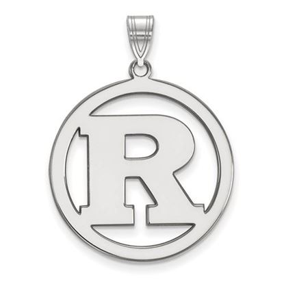 Picture of Rutgers University Scarlet Knights Sterling Silver Large Circle Pendant