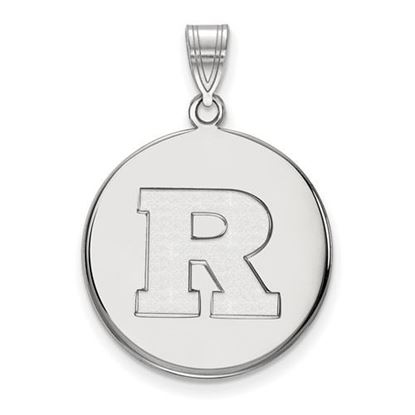 Picture of Rutgers University Scarlet Knights Sterling Silver Large Disc Pendant