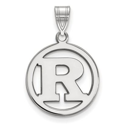 Picture of Rutgers University Scarlet Knights Sterling Silver Small Circle Pendant