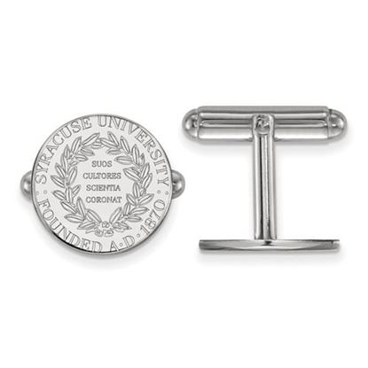 Picture of Syracuse University Orange Sterling Silver Crest Cuff Links
