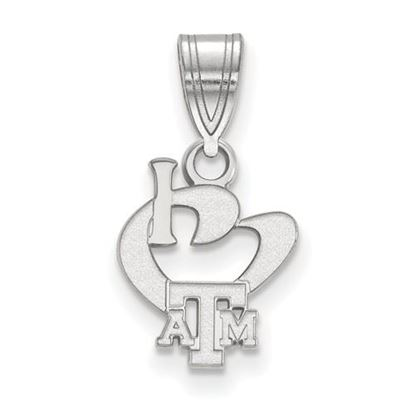 Picture of Texas A&M University Aggies Sterling Silver Small I Love Logo Pendant