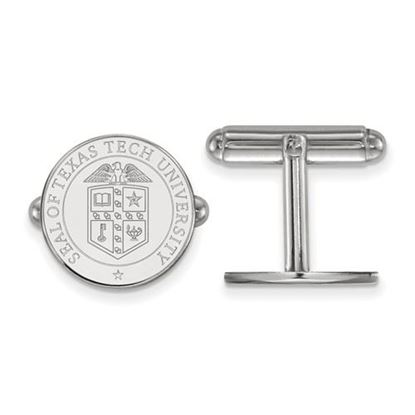 Picture of Texas Tech University Red Raiders Sterling Silver Crest Cuff Links