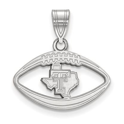 Picture of Texas Tech University Red Raiders Sterling Silver Football Pendant