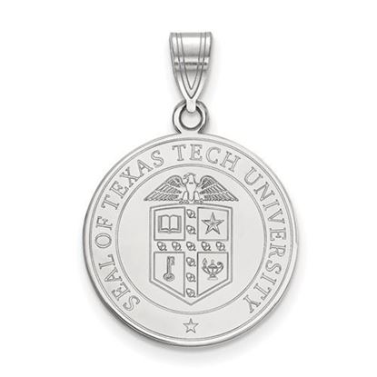 Picture of Texas Tech University Red Raiders Sterling Silver Large Crest Pendant
